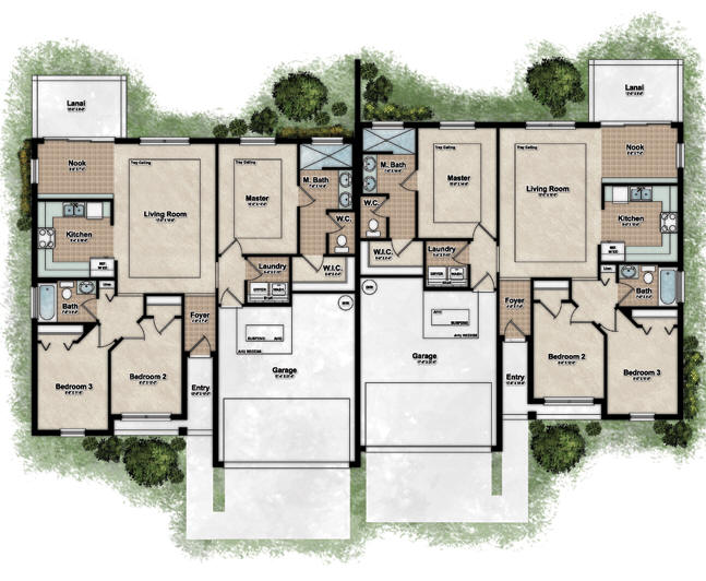 Duplexes floor plans find house plans Duplex layouts